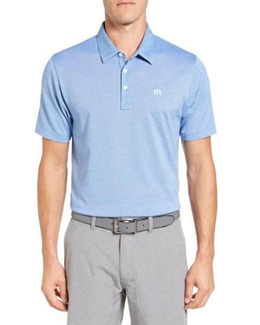 Travis Mathew | Blue The Zinna Performance Polo for Men | Lyst