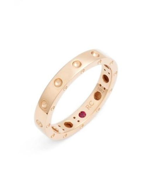 Roberto Coin | Metallic 'symphony - Pois Moi' Ruby Band Ring | Lyst