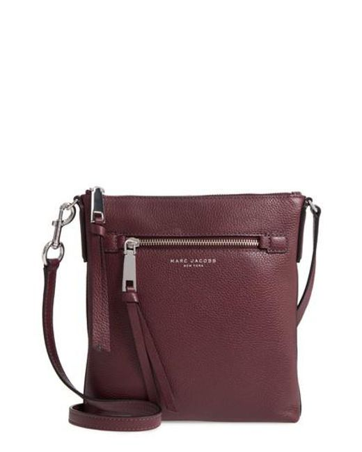 Marc Jacobs   Recruit North/south Leather Crossbody Bag - Purple   Lyst