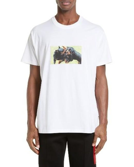 Givenchy | White - Rottweiler Print T-shirt - Men - Cotton - M for Men | Lyst