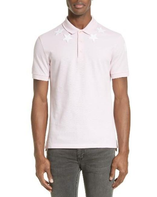 Givenchy   Black Star 74 Cuban Fit Polo for Men   Lyst