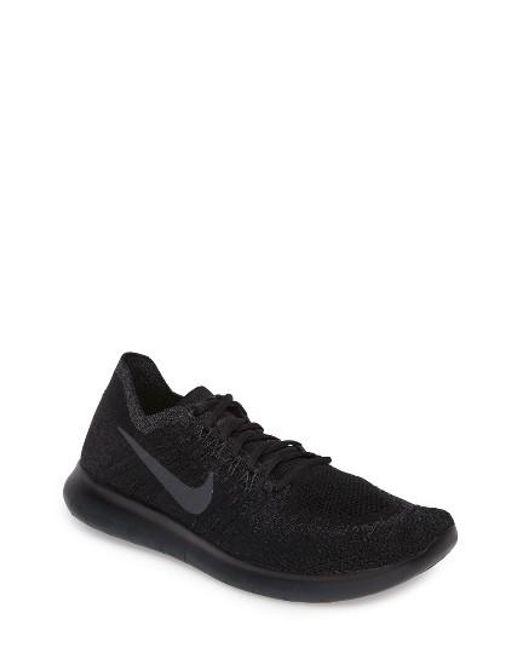 Nike   Black Free Run Flyknit 2017 Running Shoe for Men   Lyst