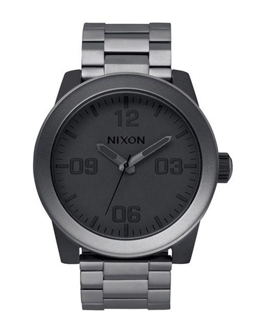Nixon | Black 'the Corporal' Bracelet Watch for Men | Lyst