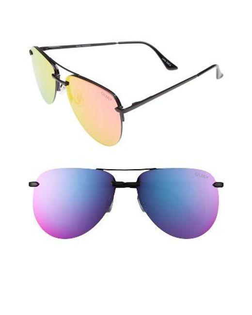 Quay   Multicolor The Playa 64mm Aviator Sunglasses   Lyst