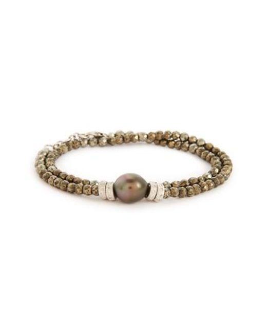 Armenta   Metallic Old World Semiprecious Stone & Diamond Beaded Bracelet   Lyst