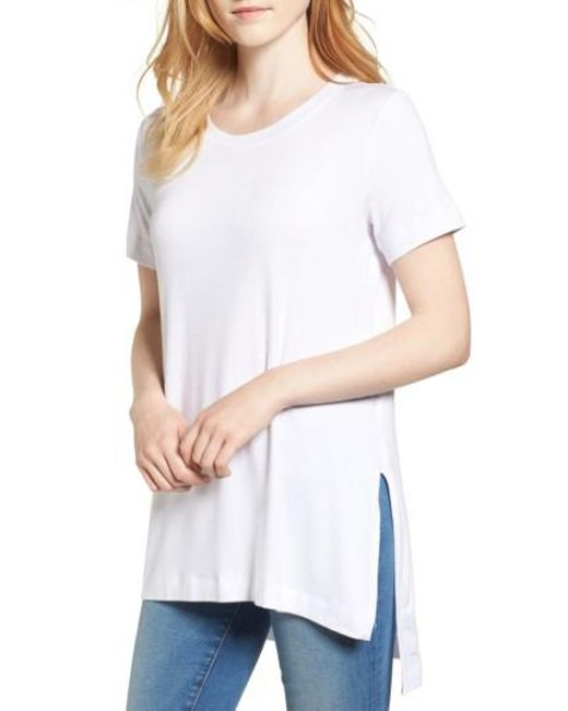 Amour Vert   White Paola High/low Tee   Lyst