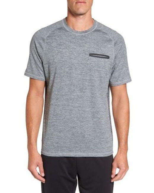 Zella | Gray Celsian Moisture Wicking Pocket T-shirt for Men | Lyst