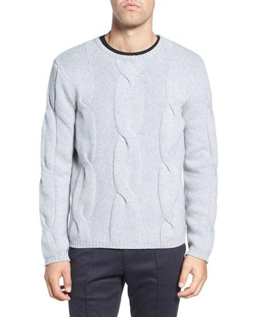 Zachary Prell   Gray Wool & Cashmere Sweater for Men   Lyst