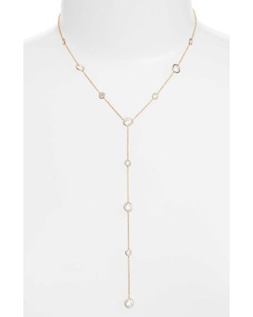 Nadri | Metallic Bezel Y Necklace | Lyst