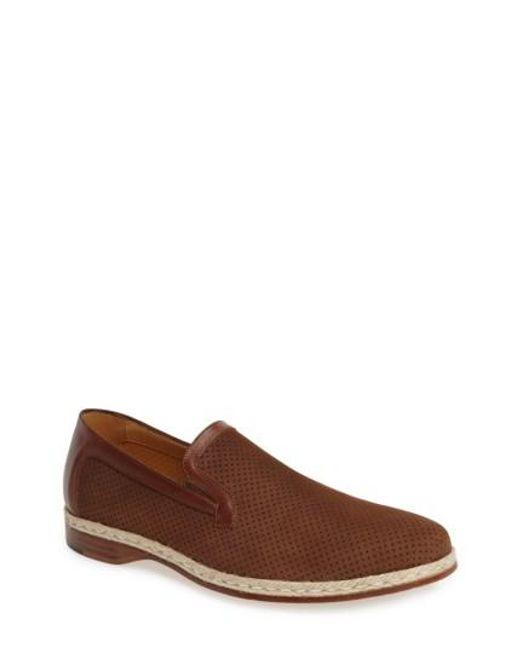 Mezlan | Brown Marcet Perforated Loafer for Men | Lyst