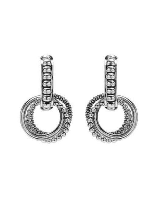 Lagos | Metallic 'link' Circle Drop Earrings | Lyst