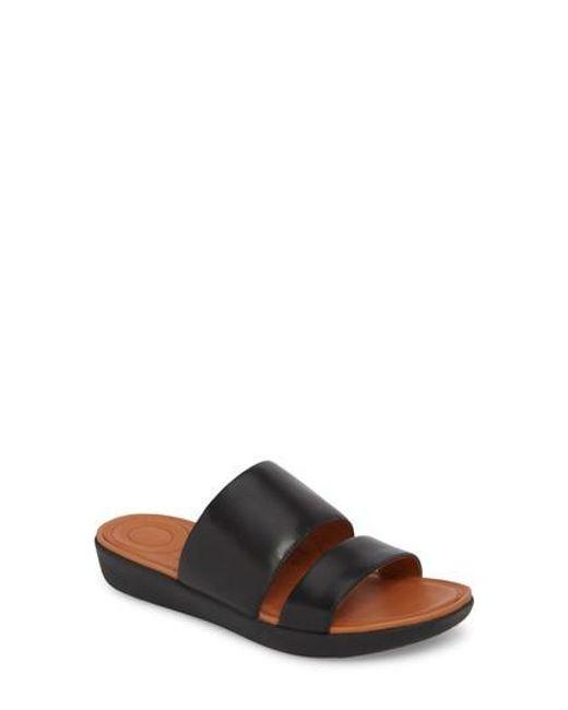 Fitflop - Black Delta Slide Sandals - Lyst