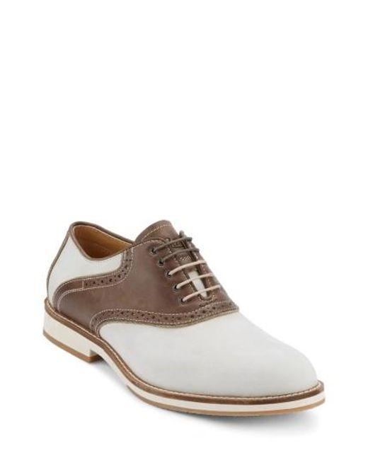 G.H. Bass & Co. | Brown Noah Saddle Shoe for Men | Lyst
