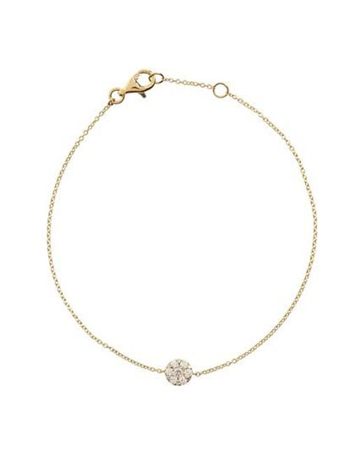 Bony Levy | Metallic Diamond Station Bracelet | Lyst