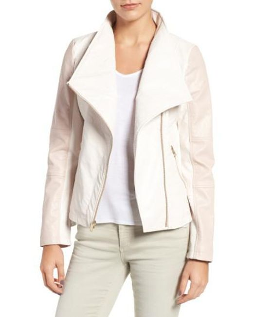 Guess | White Asymmetrical Faux Leather Jacket | Lyst