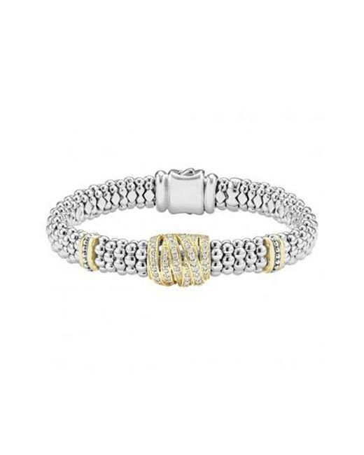 Lagos - Metallic 'diamonds & Caviar' Diamond Rope Bracelet - Lyst