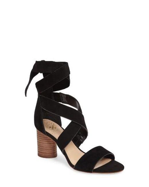 Vince Camuto | Black Jeneve Block Heel Sandal | Lyst