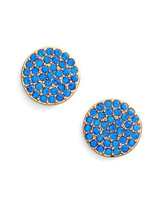 Kate Spade | Blue Shine On Stud Earrings | Lyst