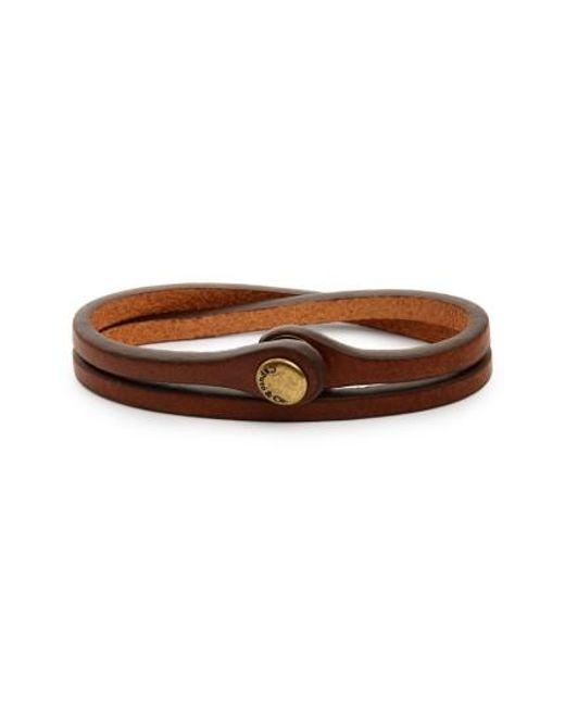 Caputo & Co. | Brown Leather Wrap Bracelet for Men | Lyst