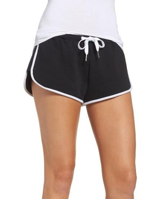 The Laundry Room | Black Cozy Crew Lounge Shorts | Lyst