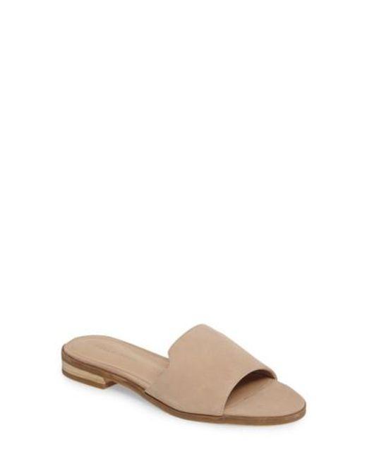 Pelle Moda   Natural Hailey Slide Sandal   Lyst
