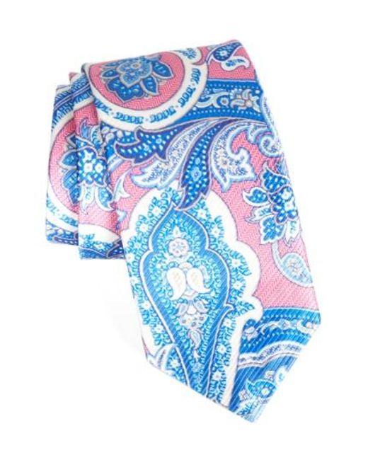 David Donahue   Blue David Donhaue Paisley Silk Tie for Men   Lyst