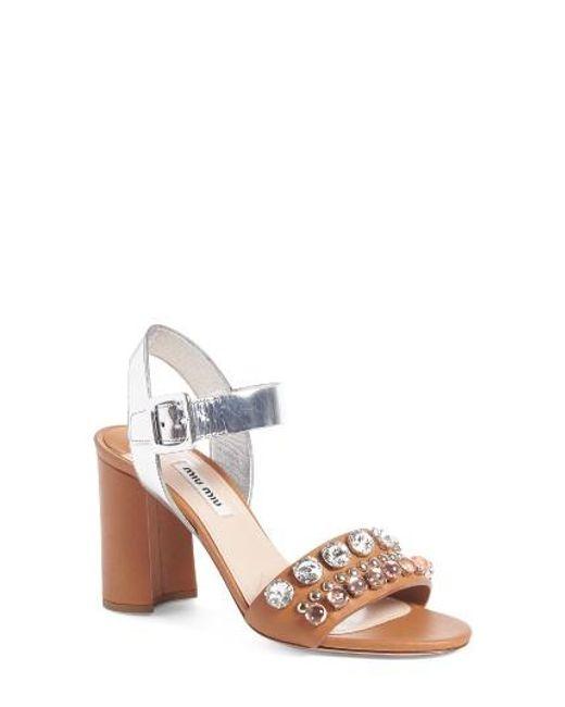 Miu Miu | Multicolor Jewel Sandal | Lyst