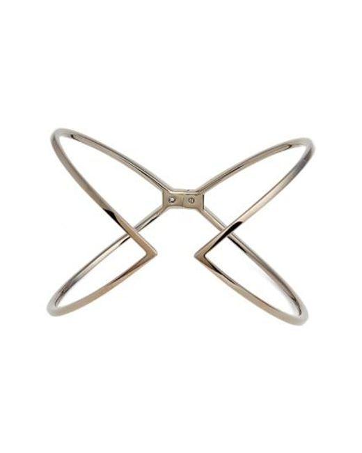Nadri   Black Open X Hinge Bracelet   Lyst