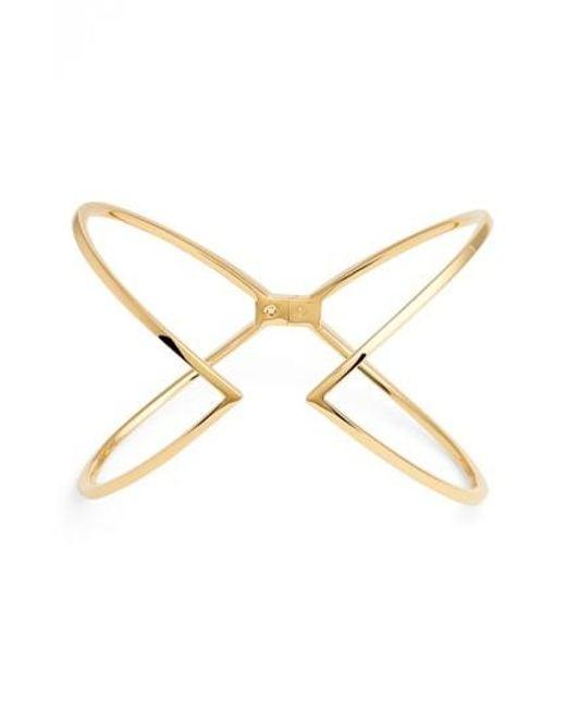 Nadri | Metallic Open X Hinge Bracelet | Lyst