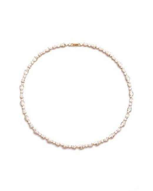 Nadri   Metallic Ava Crystal Collar Necklace   Lyst
