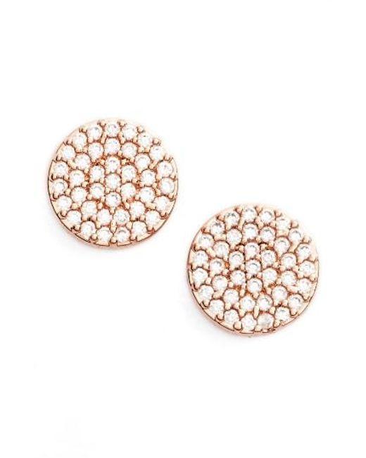 Nadri | Metallic 'geo' Stud Earrings | Lyst