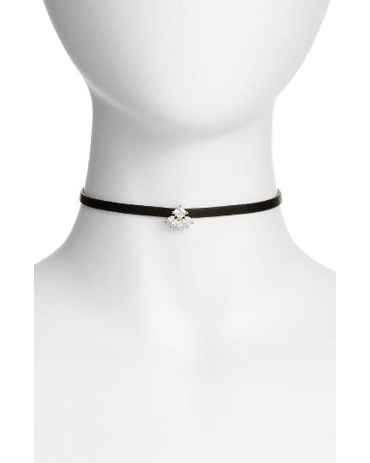 CZ by Kenneth Jay Lane | Metallic Princess Marquise Choker | Lyst