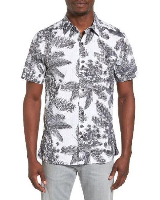 Hurley   Gray Long Waves Print Shirt for Men   Lyst