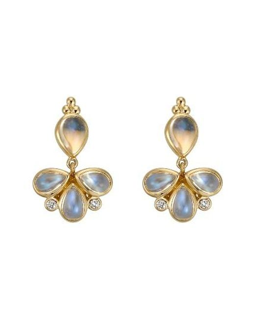 Temple St. Clair | Temple St. Clair Royal Blue Moonstone & Diamond Drop Earrings | Lyst
