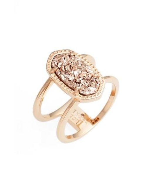 Kendra Scott   Metallic Elyse Ring   Lyst