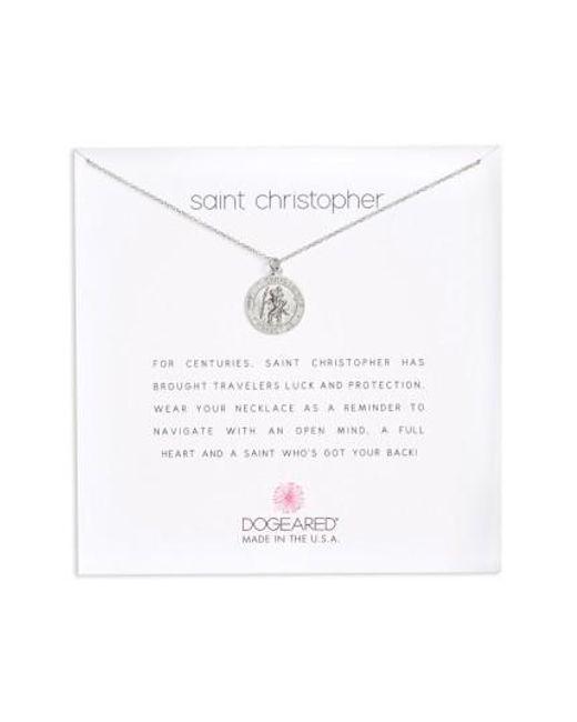 Dogeared | Metallic St. Christopher Pendant Necklace | Lyst