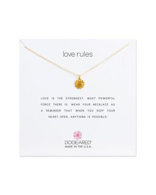 Dogeared | Metallic Love Rules Pendant Necklace | Lyst