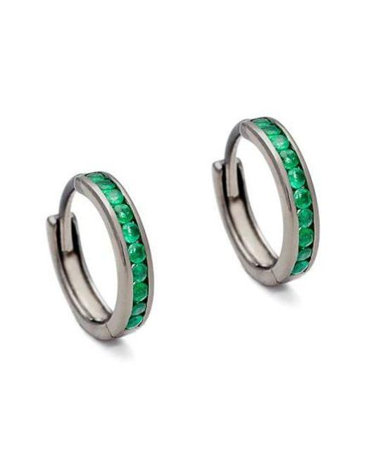 Anna Sheffield | Green Licol Emerald Hoop Earrings (nordstrom Exclusive) | Lyst