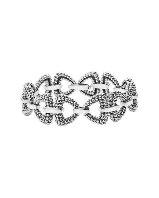 Lagos | Metallic Derby Caviar Connector Link Bracelet | Lyst