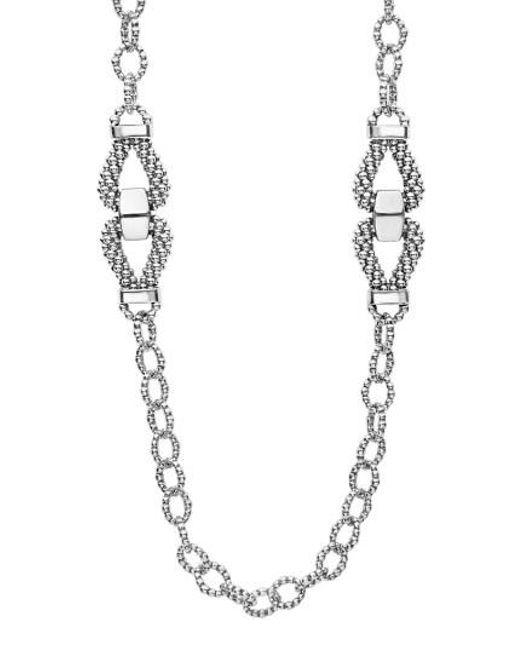 Lagos   Metallic Derby Caviar Link Necklace   Lyst