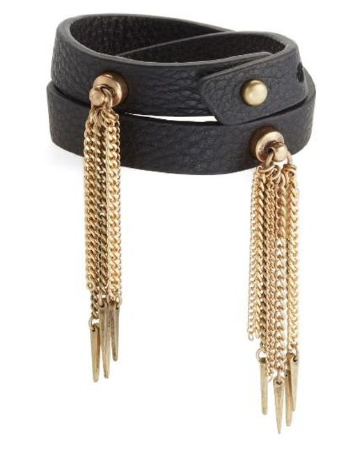 Jenny Bird | Black Luna Warrior Leather Wrap Bracelet | Lyst