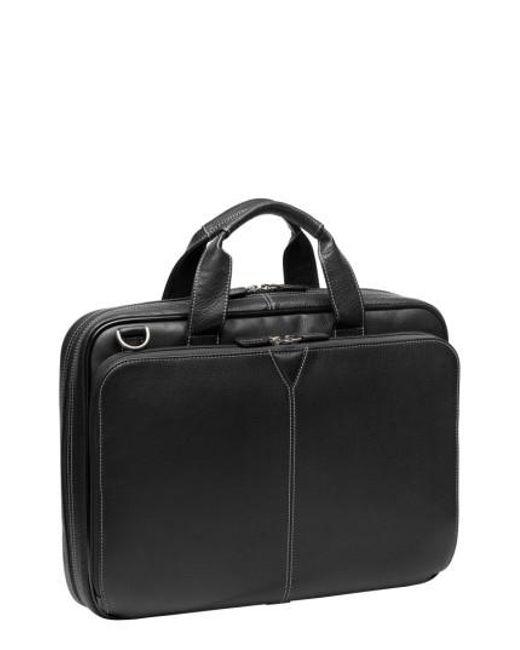 Johnston & Murphy | Black Leather Briefcase for Men | Lyst