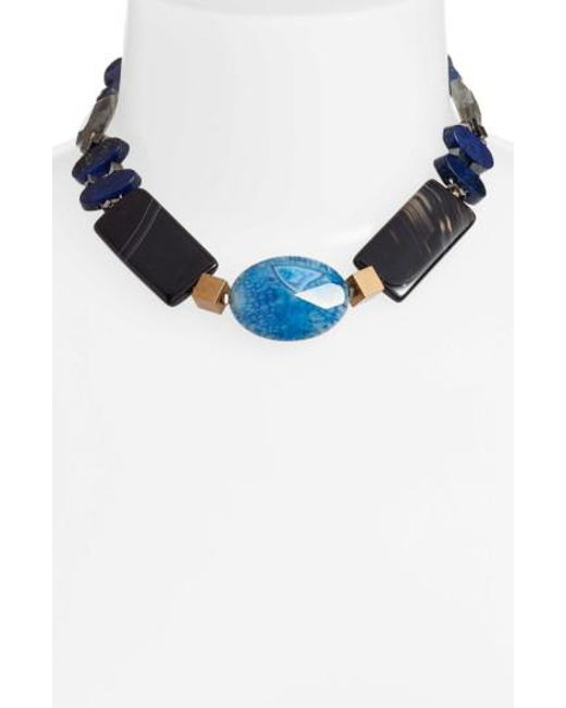 Nakamol | Blue Chunky Agate & Lapis Short Necklace | Lyst