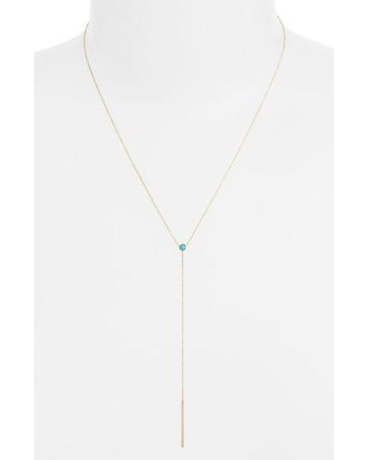 Zoe Chicco | Metallic Turquoise Bezel Y-necklace (nordstrom Exclusive) | Lyst