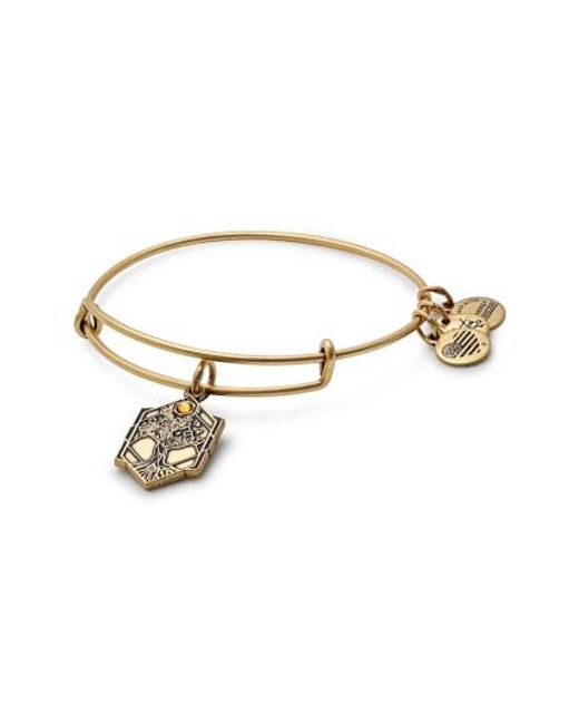 ALEX AND ANI | Metallic Tree Of Life Adjustable Wire Bangle | Lyst