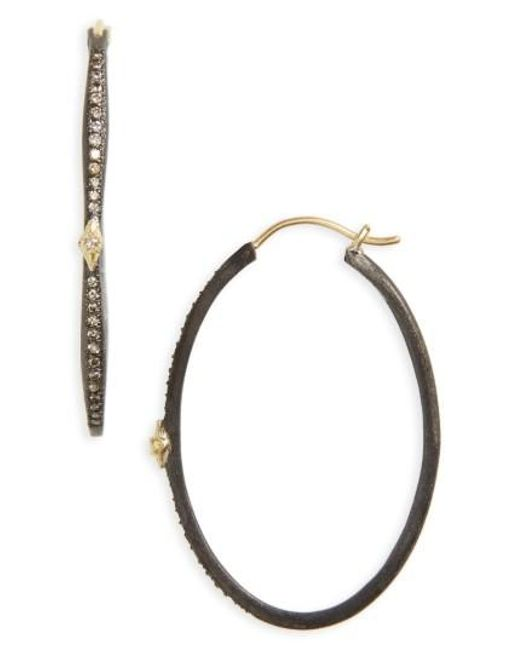 Armenta | Metallic Old World Oval Hoop Earrings | Lyst