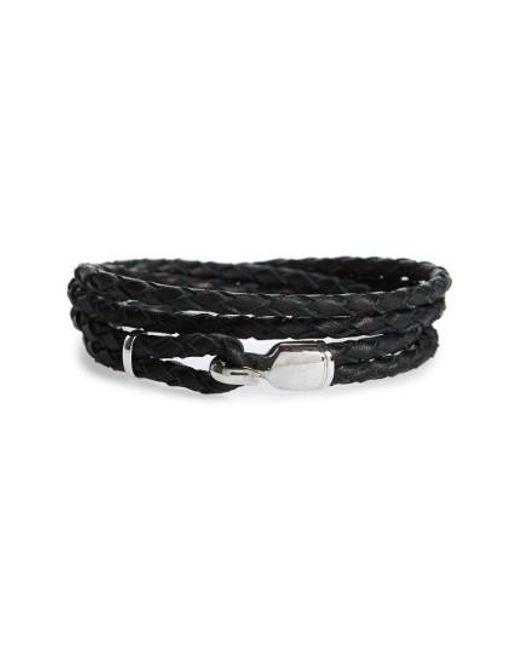 Miansai | Black Braided Leather Bracelet for Men | Lyst
