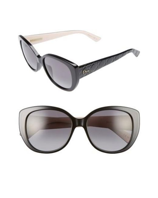 Dior | Black Lady 55mm Cat Eye Sunglasses | Lyst