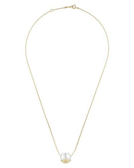 Mizuki   Metallic Sea Of Beauty Pearl Pendant Necklace   Lyst
