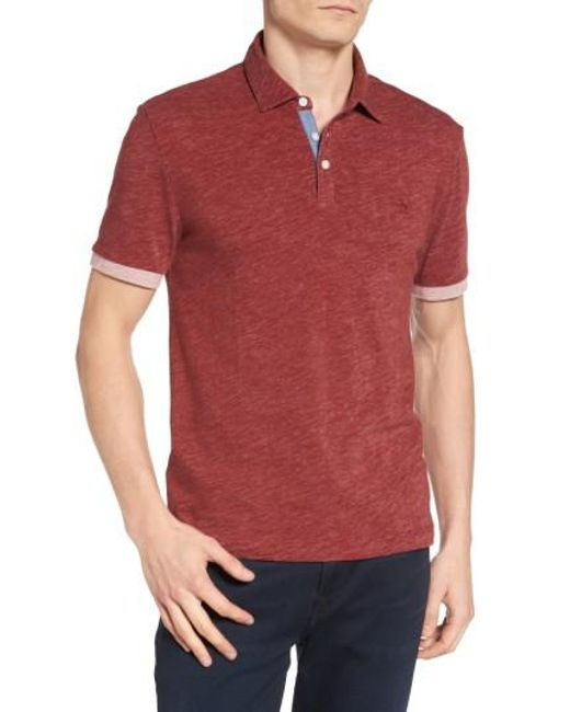 Original Penguin | Red Slub Jersey Polo for Men | Lyst